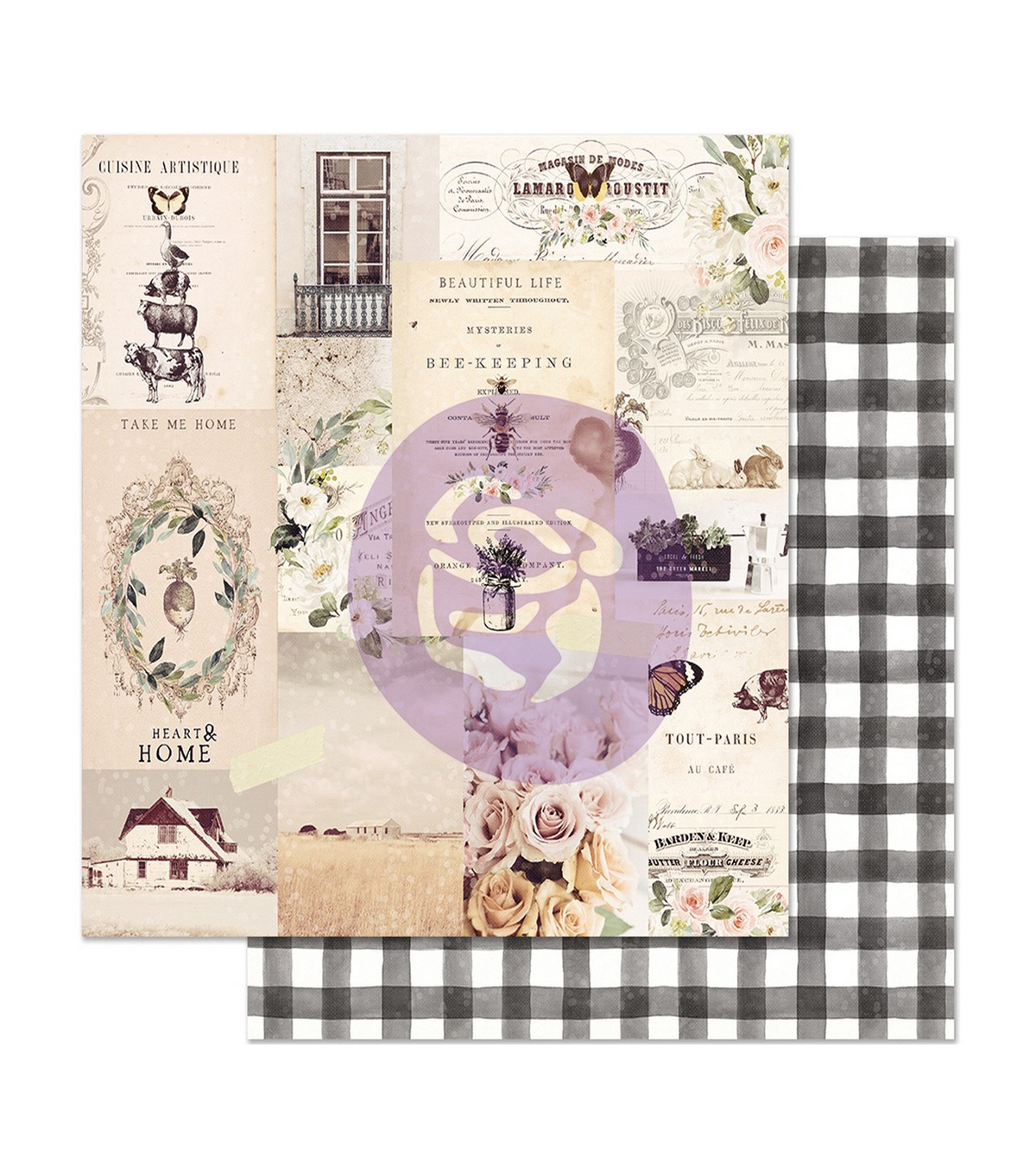 Prima Marketing Spring Farmhouse Double-sided Cardstock-Beautiful Life