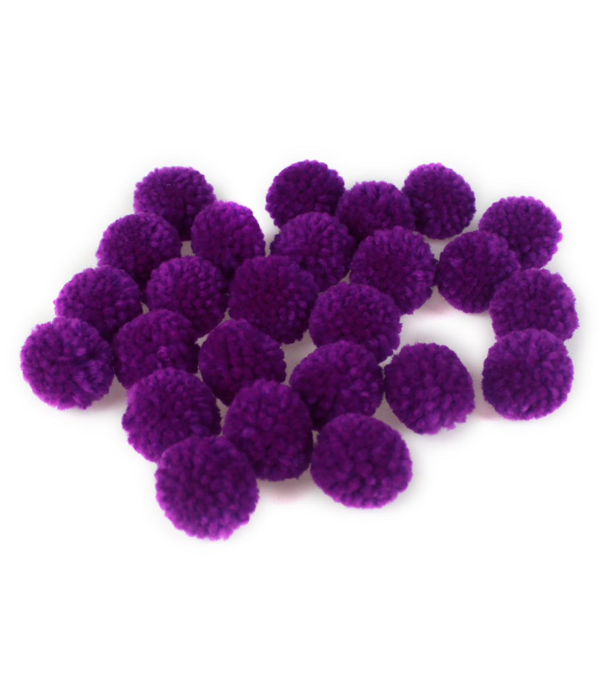 Fab Lab Yarn Pom Poms 25/Pkg-Purple