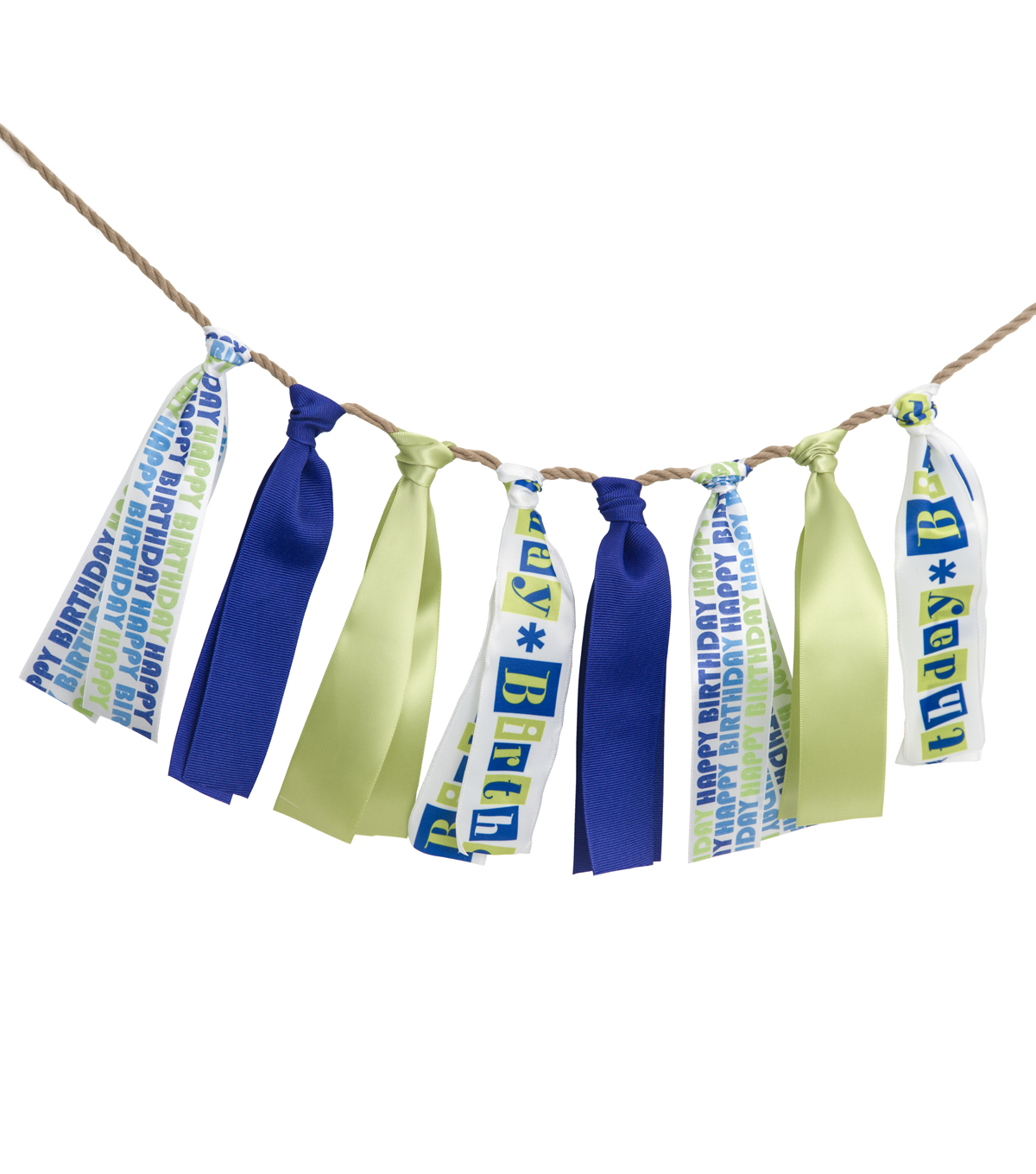 Offray DIY Ribbon Celebration Banner Kit-Bright Boy Birthday