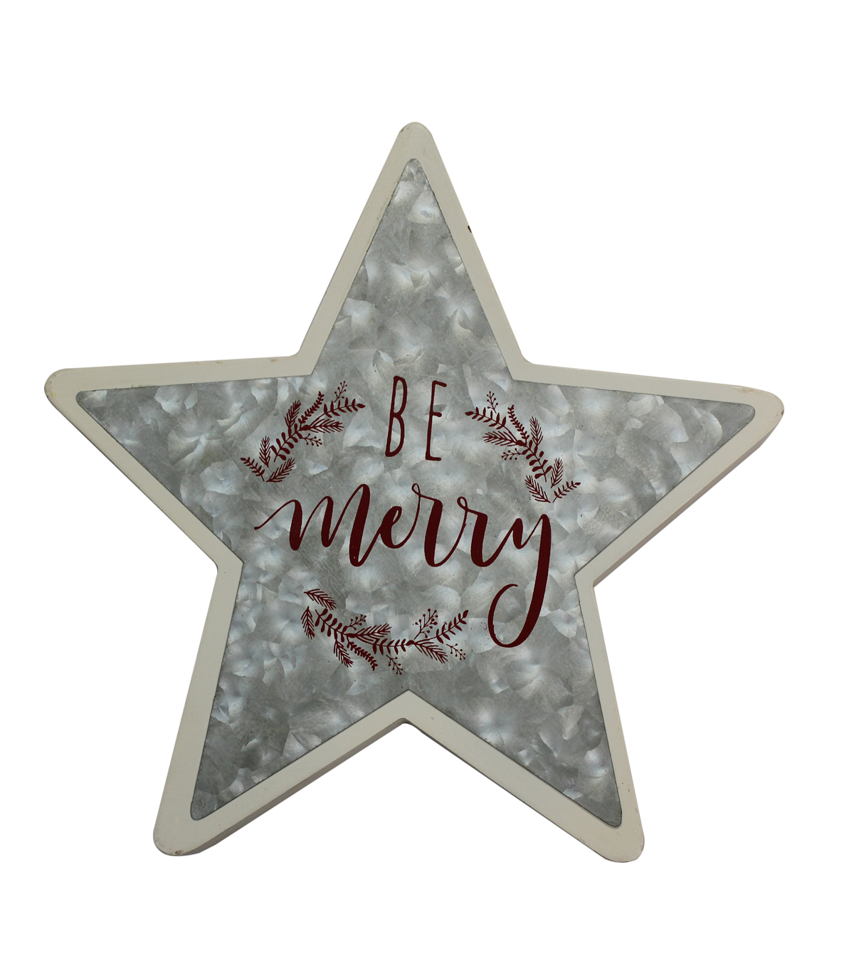 Maker\u0027s Holiday Christmas Star Shaped Decor-Be Merry