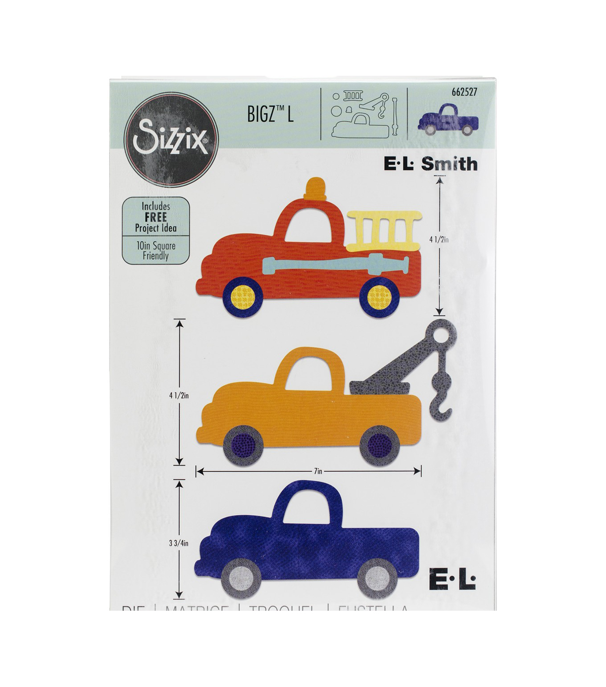 Sizzix Bigz L Die-Fire & Tow Truck By E.L. Smith