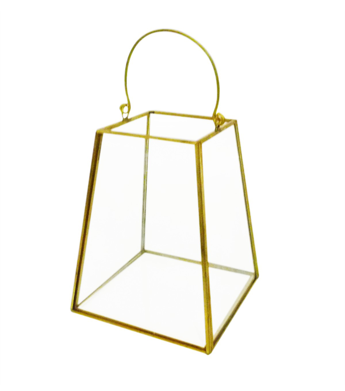 Bloom Room Glass & Metal Terrarium-Gold Finished