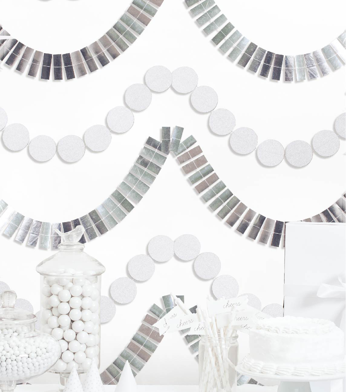 Cheer & Co Party Backdrop Kit-Silver