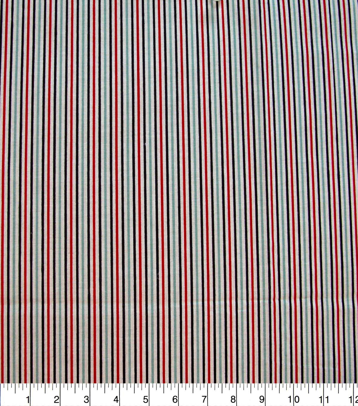 Quilter\u0027s Showcase Cotton Fabric-Red & Navy Stripes
