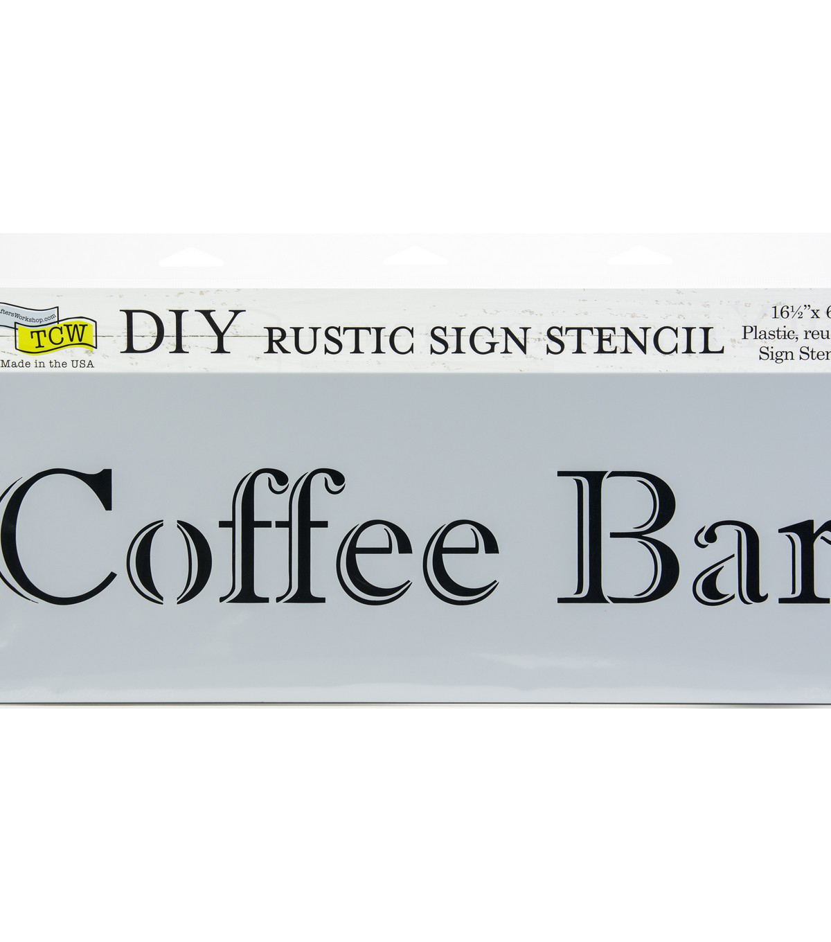 The Crafter\u0027s Workshop 16.5\u0027\u0027x6\u0027\u0027 DIY Rustic Sign Stencil-Coffee Bar
