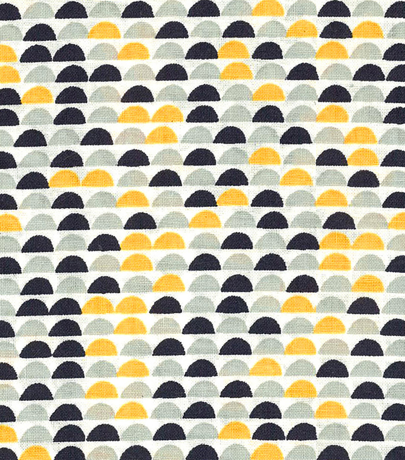 Quilter\u0027s Showcase Fabric -Navy & Gray Half Circle