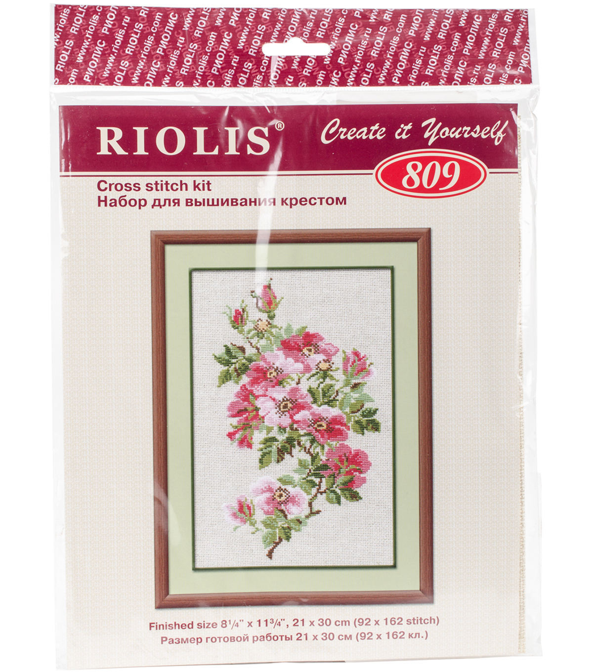RIOLIS 8.25\u0027\u0027x11.75\u0027\u0027 Counted Cross Stitch Kit-May Wild Rose