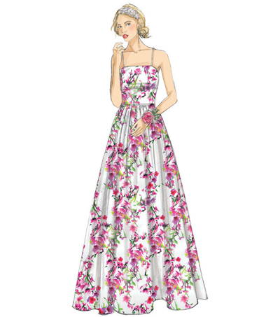 McCall\u0027s Pattern M7568 Misses\u0027 Fitted-Bodice, Strap Dresses-Size 6-14