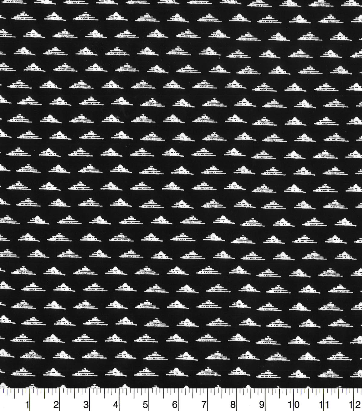 Quilter\u0027s Showcase Fabric -Triangle Geometric on Black