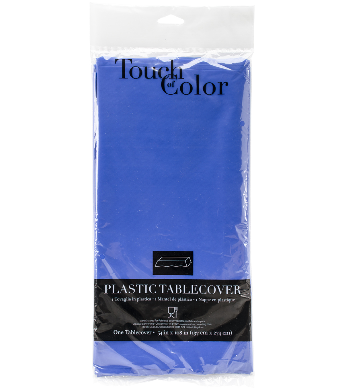 Touch Of Color Plastic Tablecover, Coral