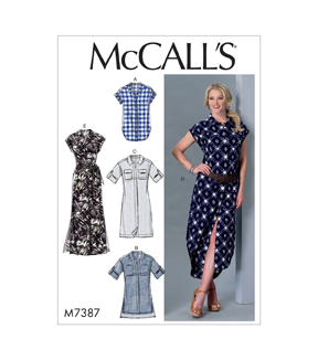 McCall\u0027s Pattern M7387 Misses\u0027 Top, Tunic, Dresses & Belt-Size 16-26