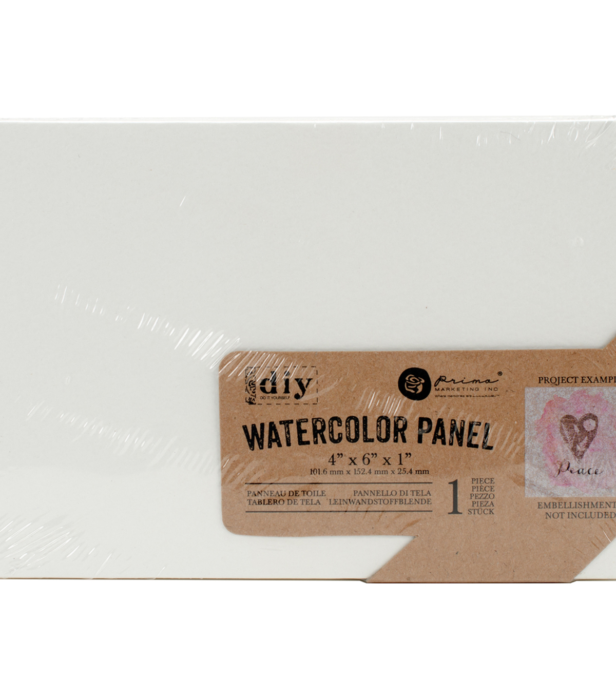 Prima Marketing DIY 4\u0027\u0027x6\u0027\u0027 Watercolor Canvas Panel