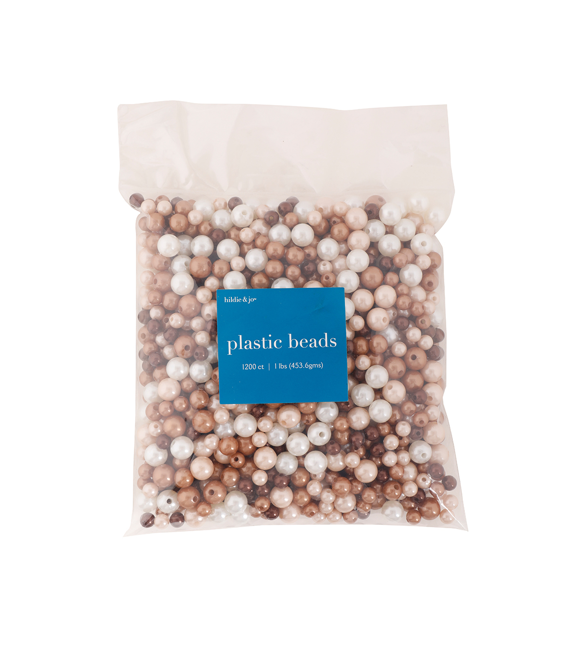 hildie & jo 1200 pk Round Plastic Pearl Beads-Mixed