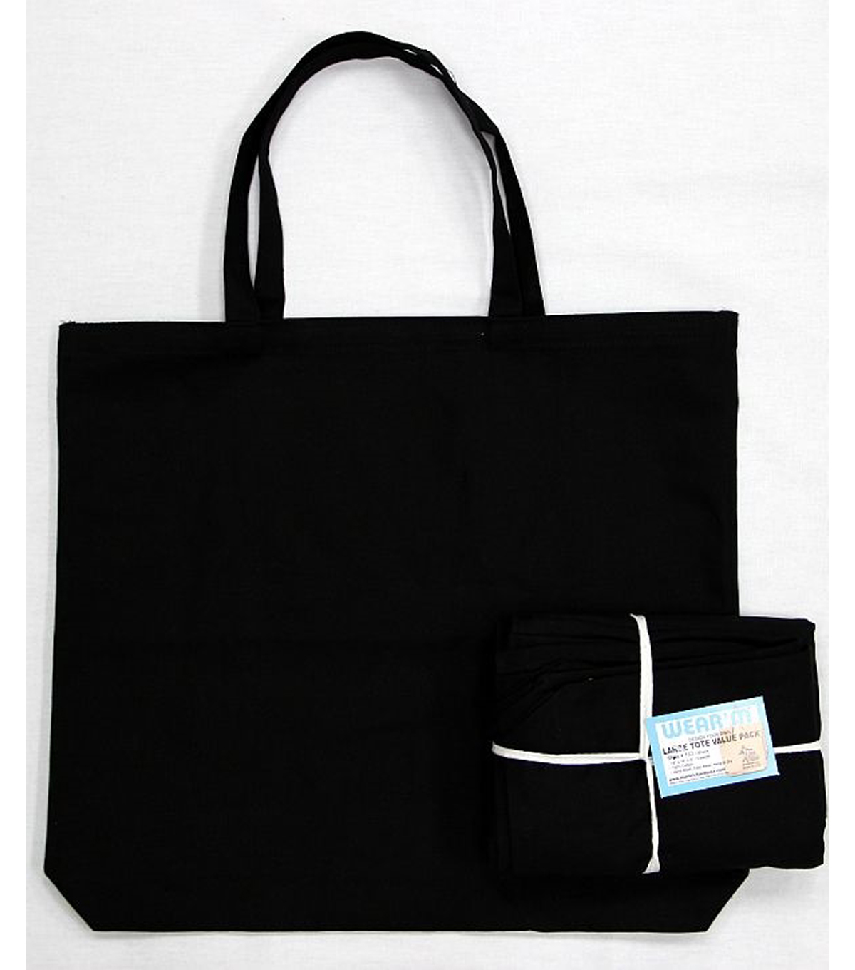 Large Tote Value Pack 18\u0022X16\u0022X3\u0022 3/Pkg-Black