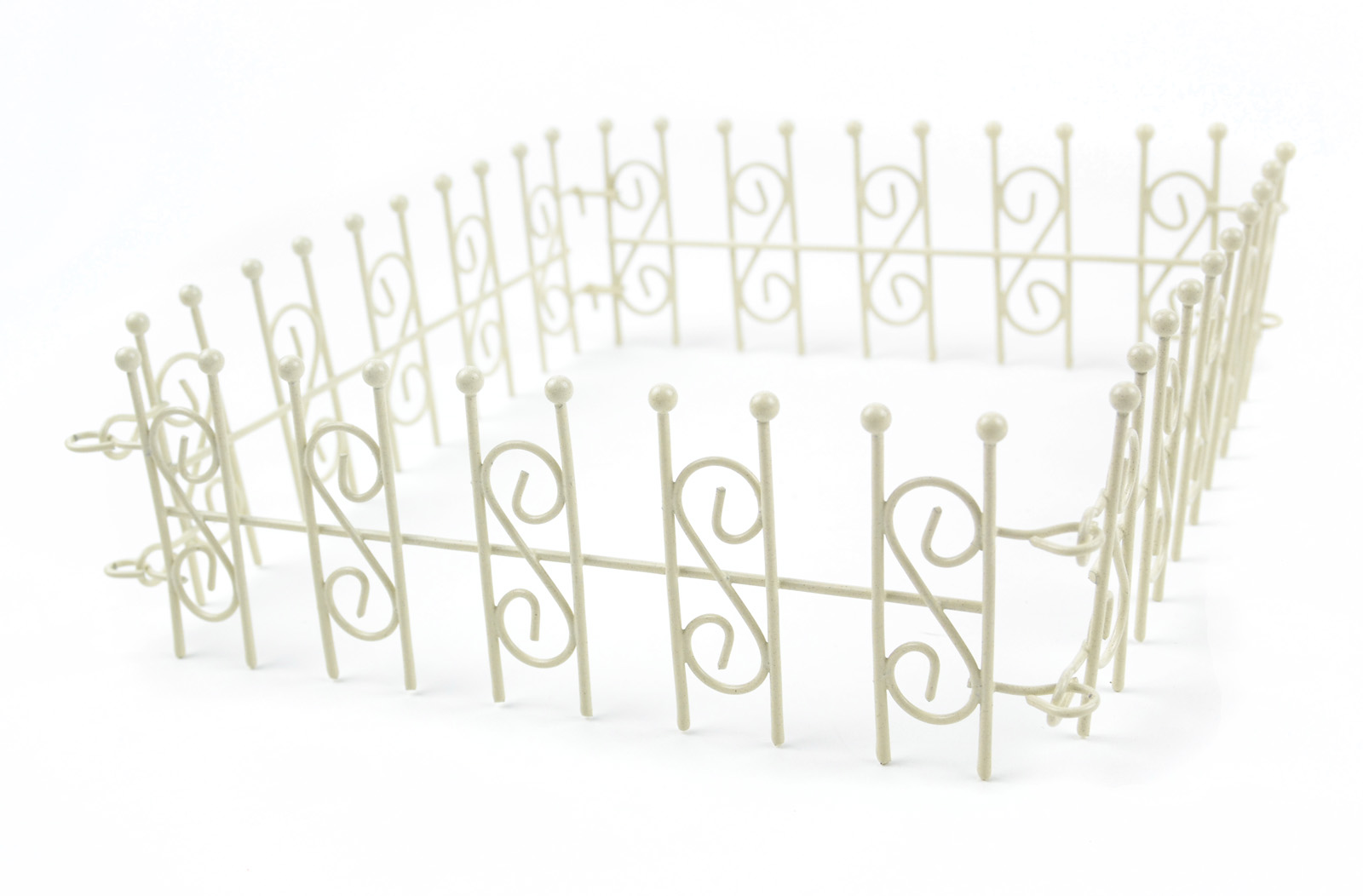 Fairy Garden White 4 Way Linked Fence