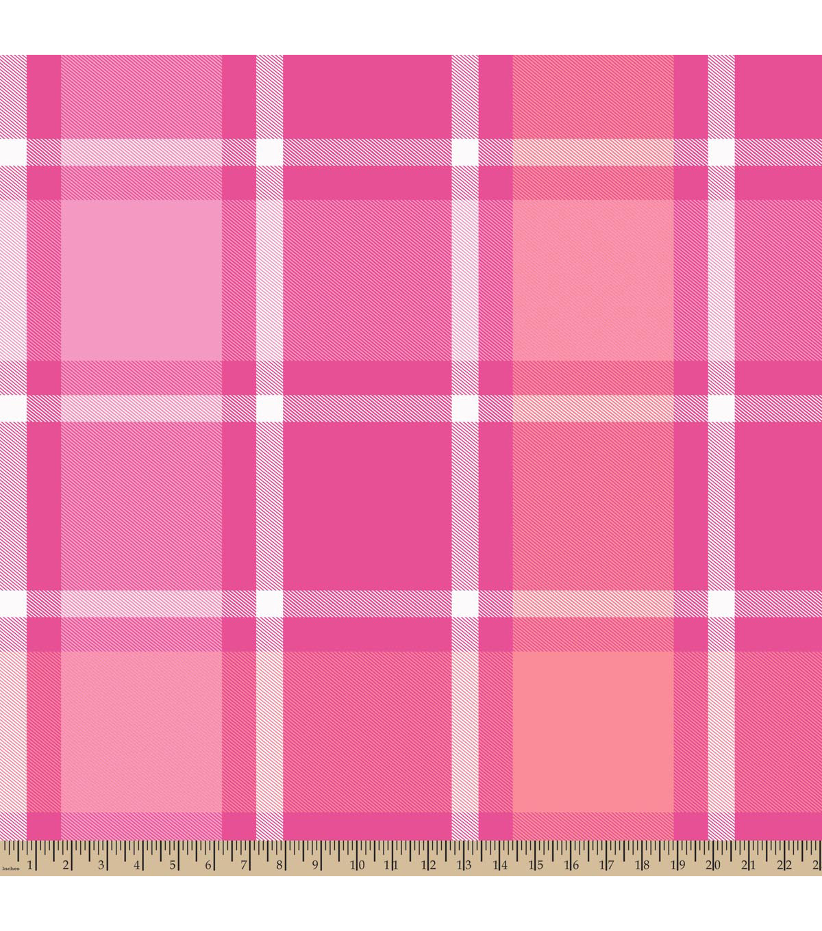 Blizzard Fleece Fabric -Bruno Plaid Pink