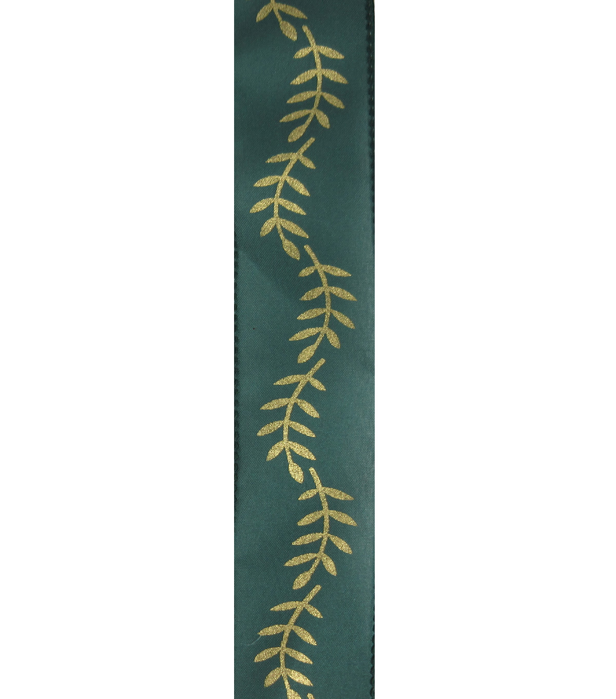 Save the Date 1.5\u0022 x 15ft Ribbon-Gold Fern On Hunter