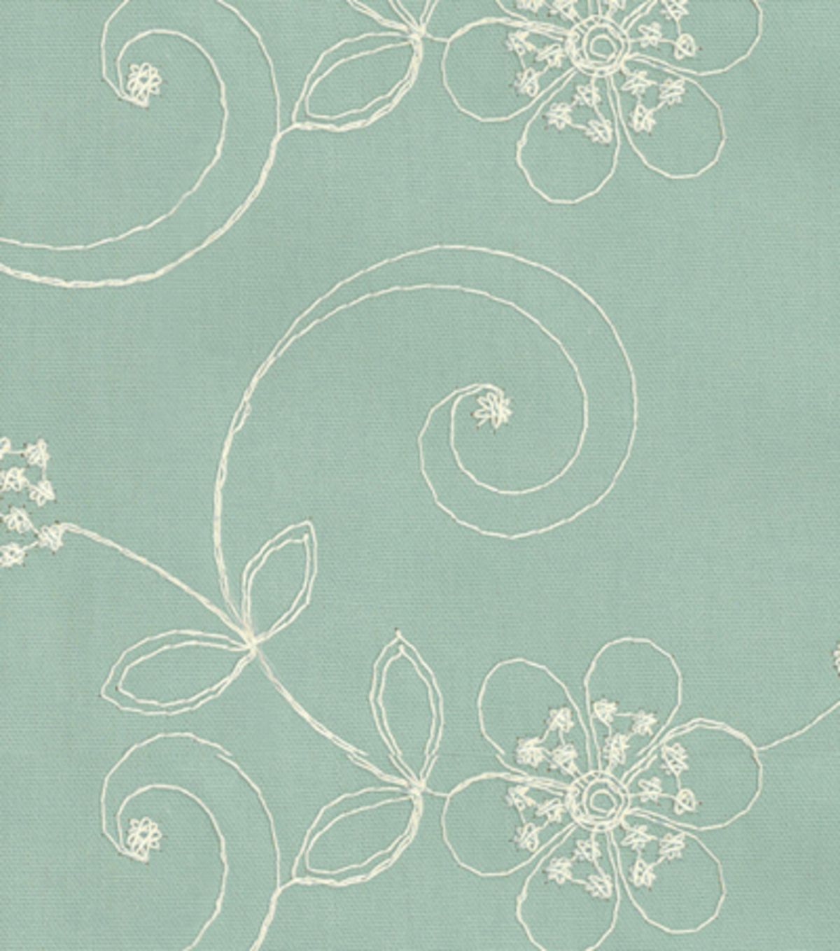 Home Decor 8\u0022x8\u0022 Fabric Swatch-Upholstery-Waverly Candlewicking Classic/Mist