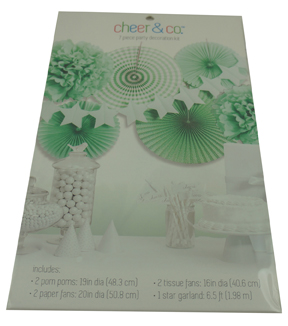 Cheer & Co 7pc Party Decoration Kit-Green