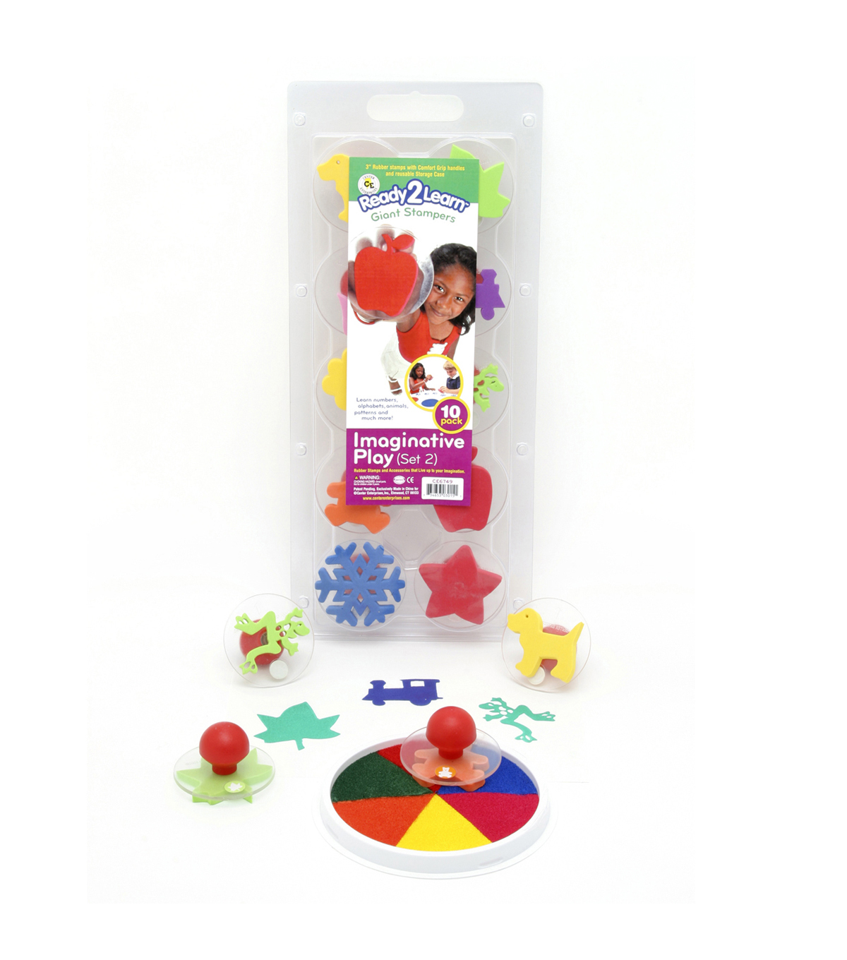 Ready2Learn Giant Stampers, Imaginative Play Set 2, Set of 10