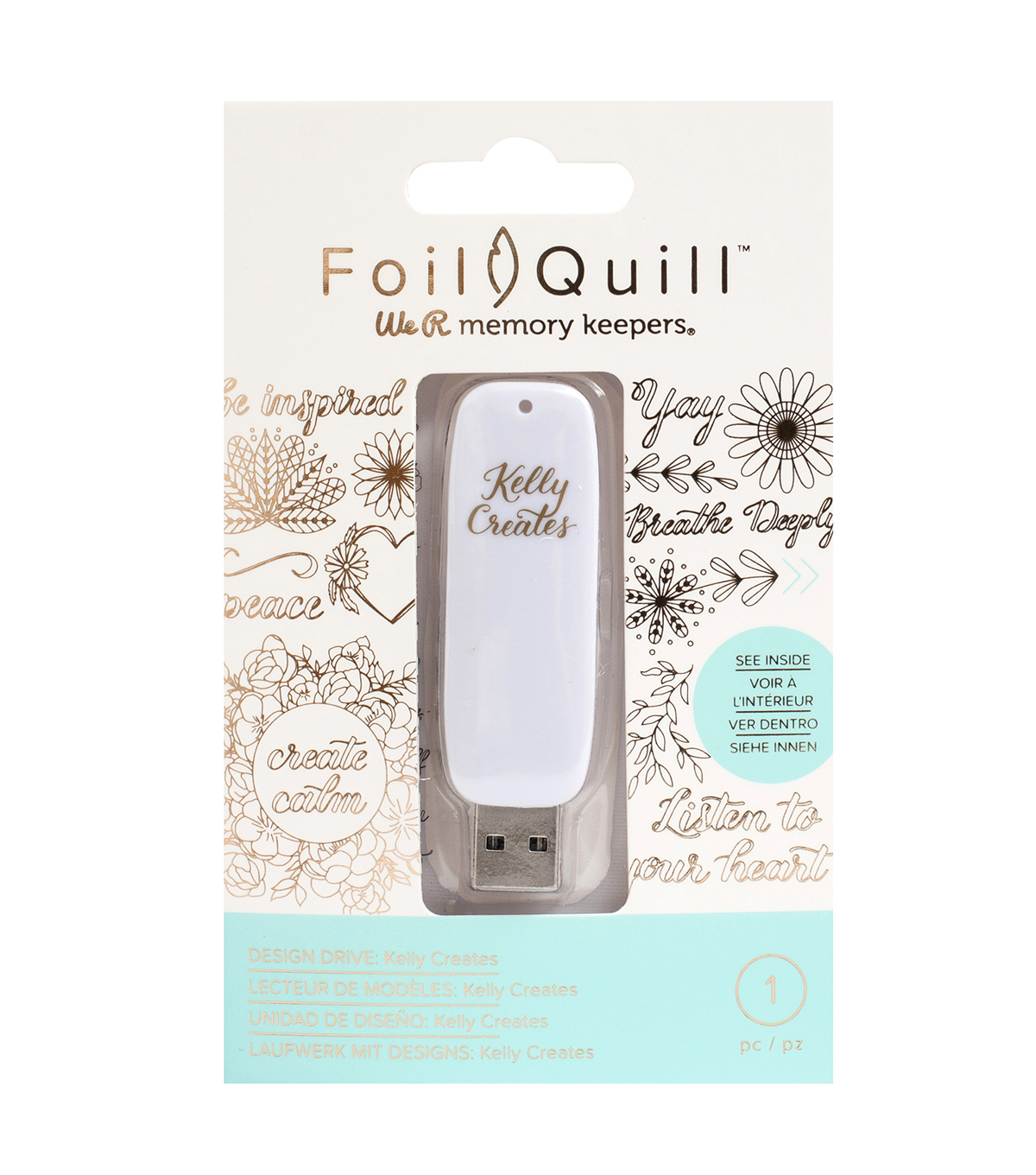 We R Memory Keepers Foil Quill USB Drive with Kelly Creates 200 Designs