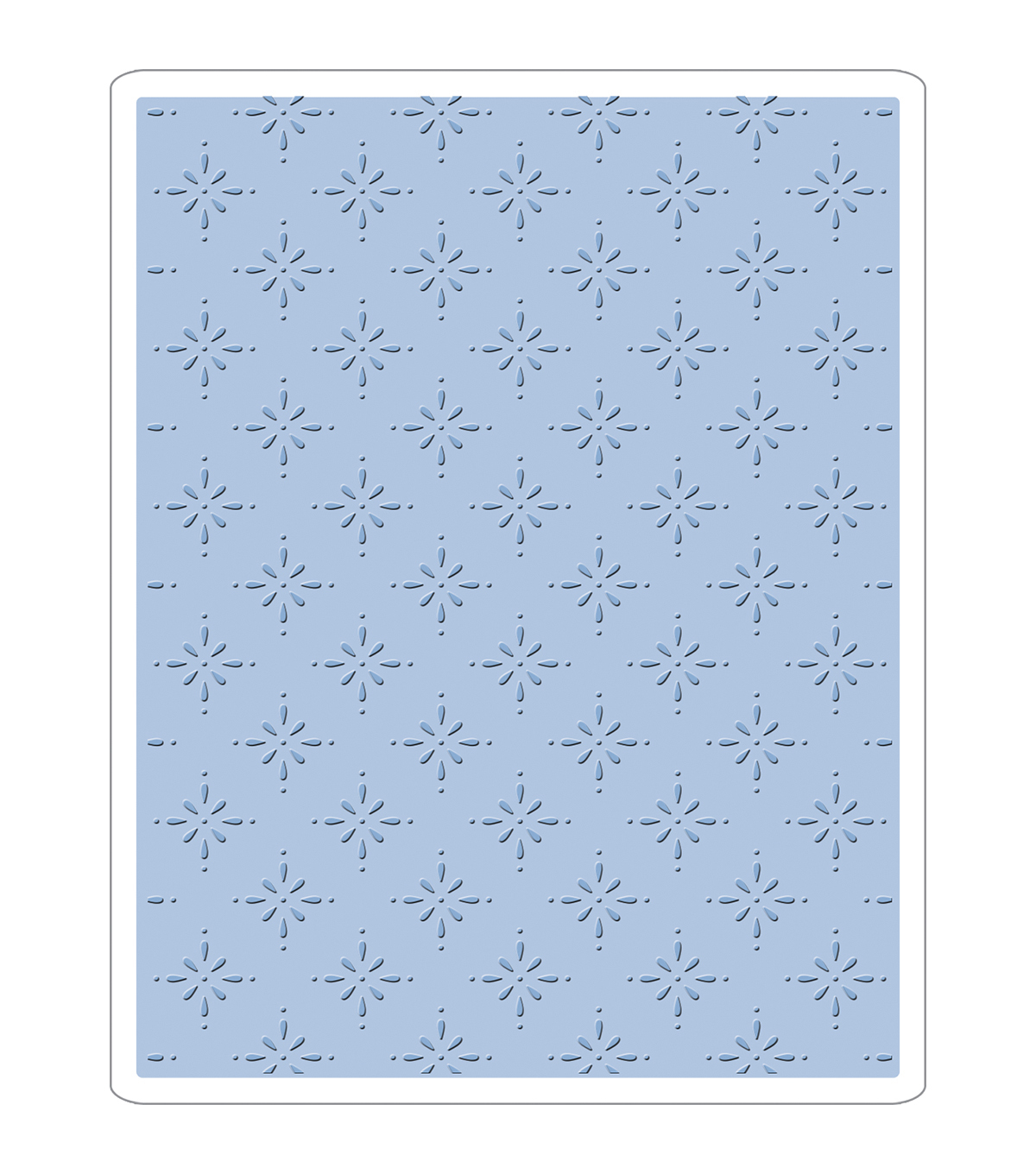 Sizzix Texture Fades A2 Embossing Folder-Star Bright