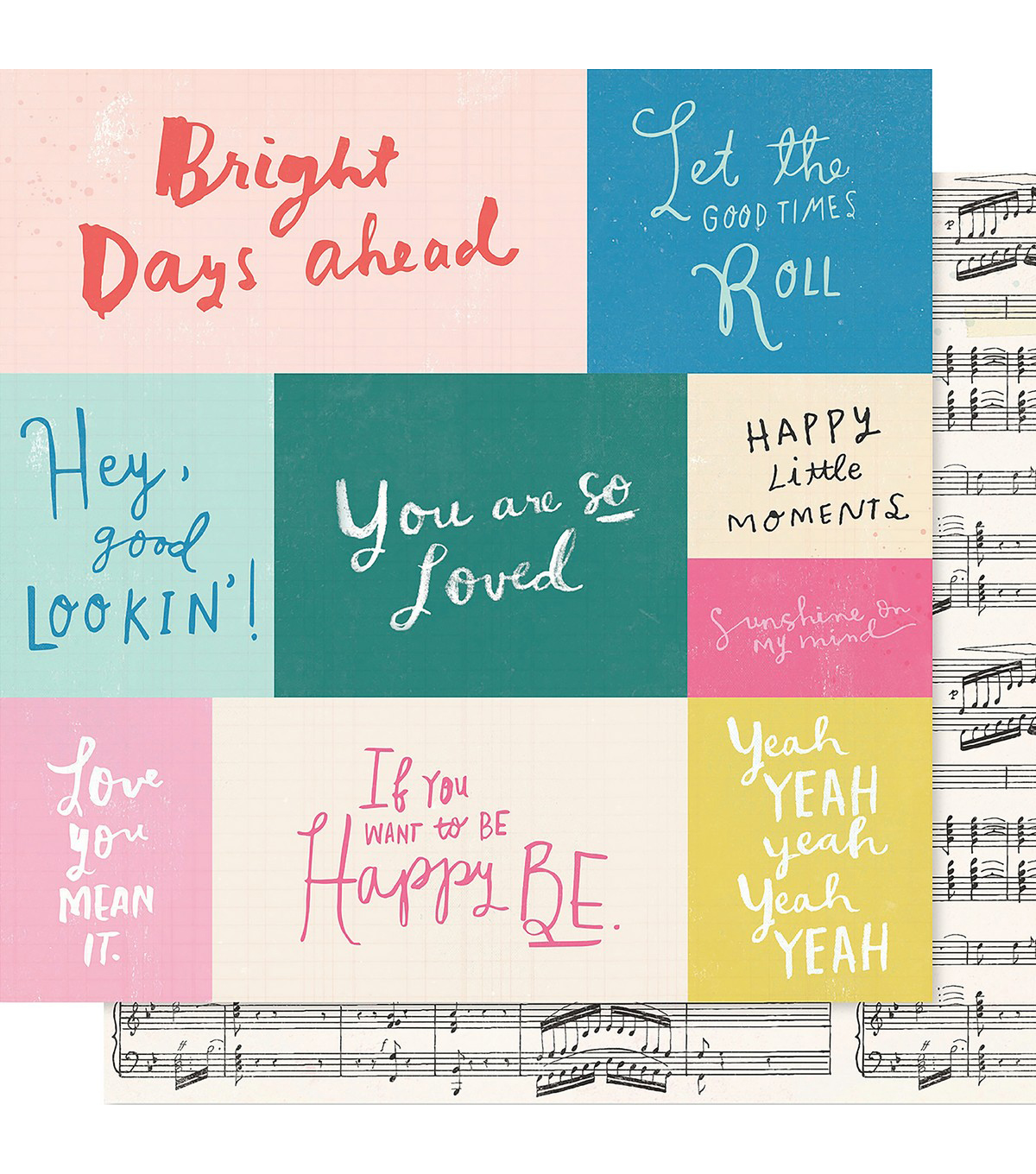 Maggie Holmes Willow Lane Double-Sided Cardstock 12\u0022X12\u0022-Melody