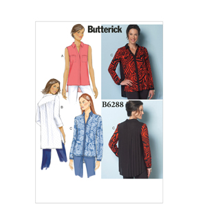 Butterick Misses Top-B6288