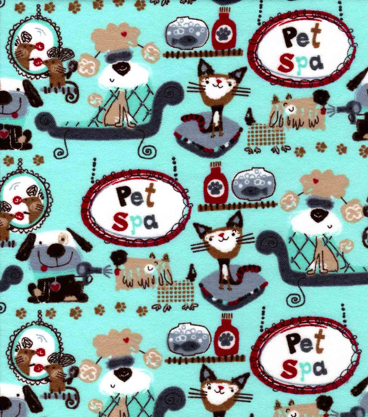 Snuggle Flannel Fabric -Pet Spa Day