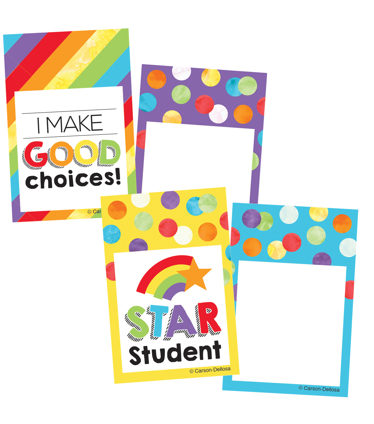 Carson Dellosa Celebrate Reward Tags Learning Mini Cutouts, 49 Per Pack