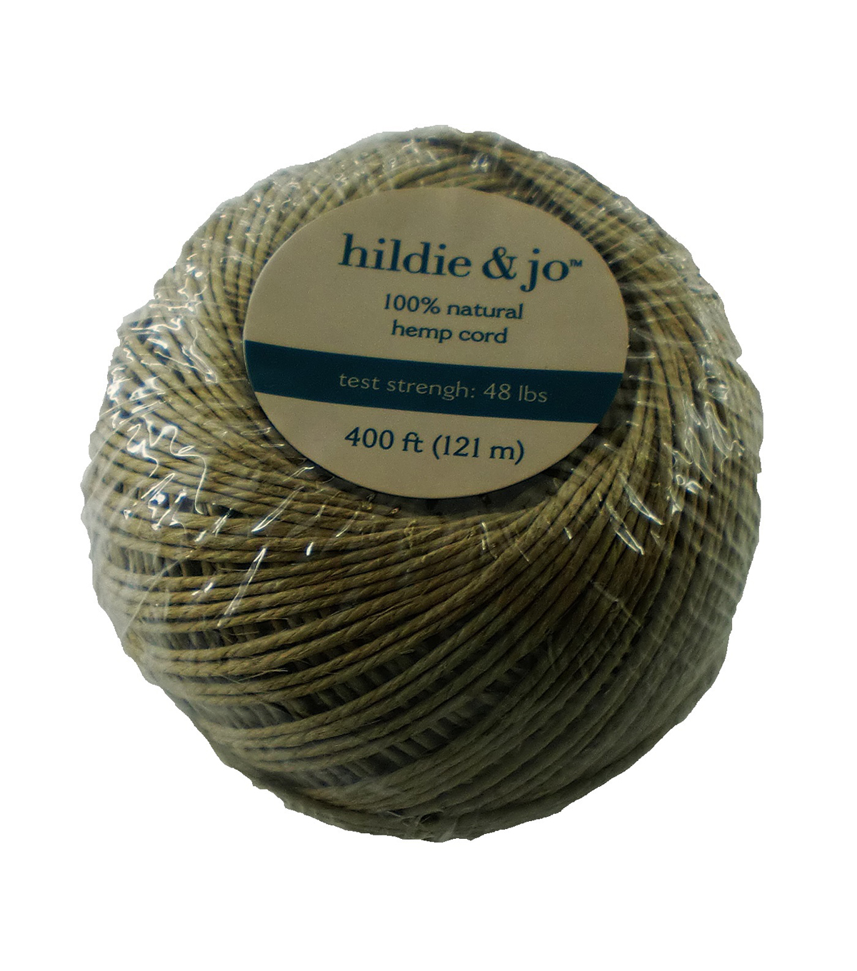 Darice 48# Hemp Cord-400ft/100% Natural