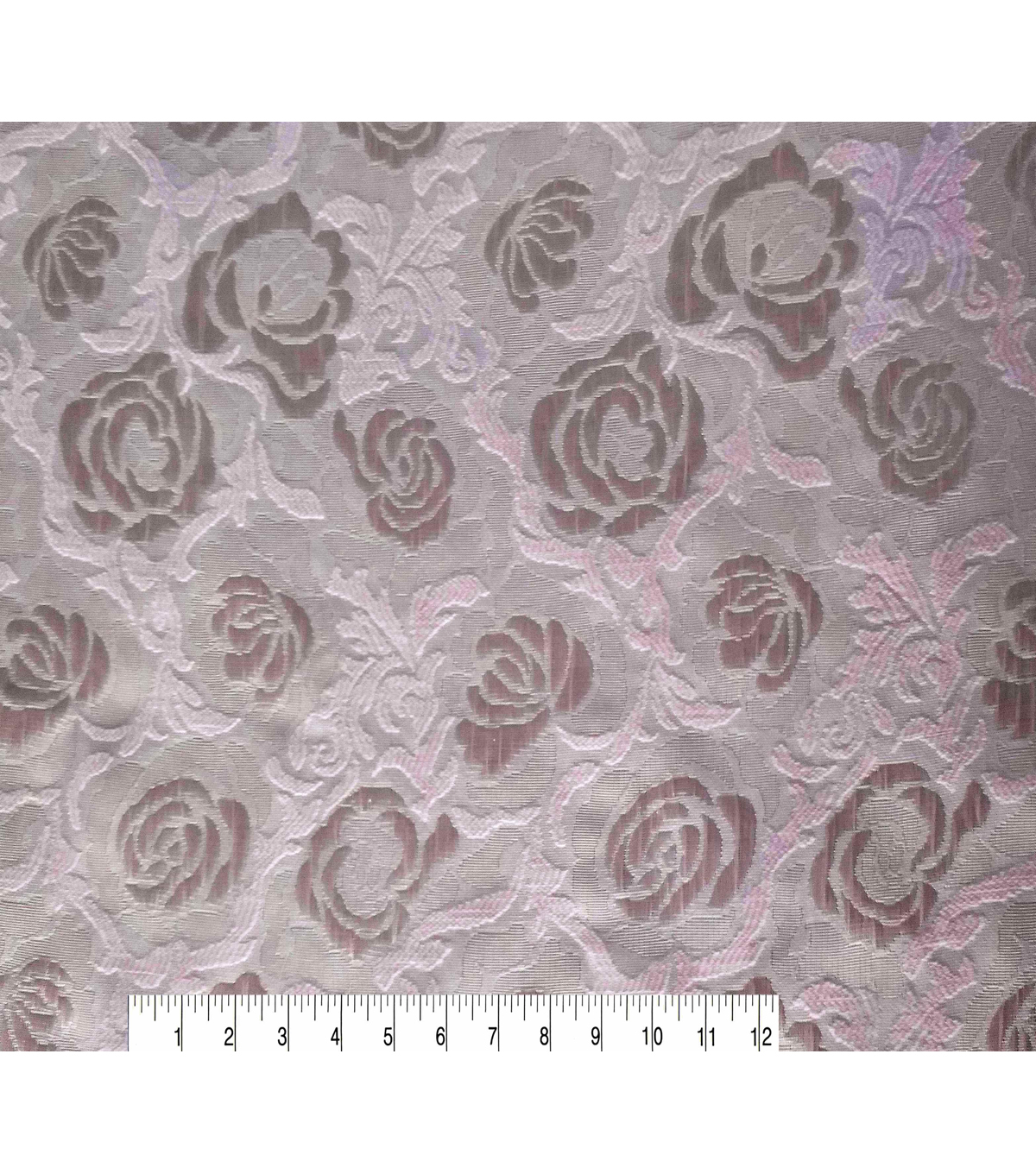Sew Sweet Metallic Floral Brocade Fabric 58\u0027\u0027-Pink