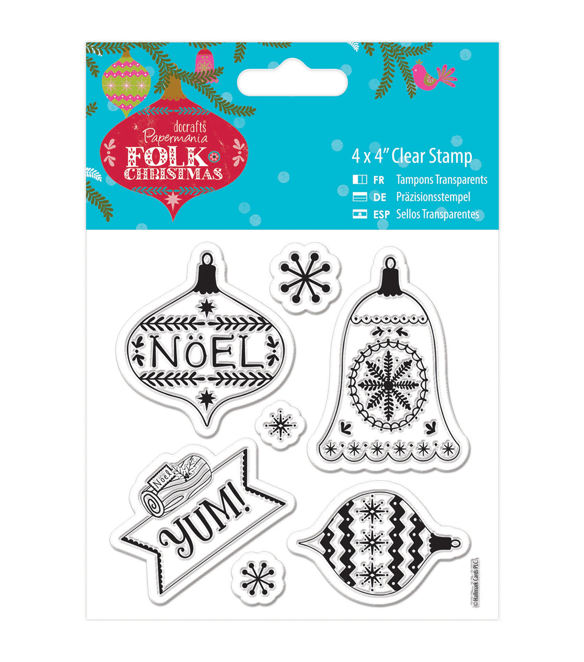 Papermania Folk Christmas Clear Stamps-Yum