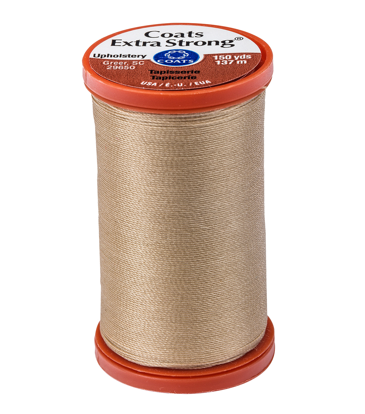 Coats & Clark Extra Strong & Upholstery Thread 150 yd , Buff