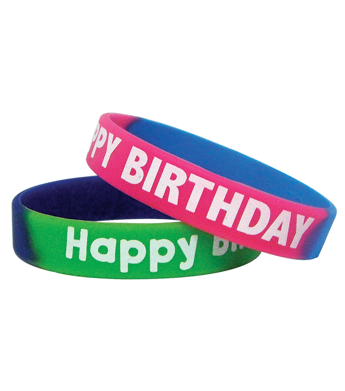 Fancy Happy Birthday Wristbands, 10 Per Pack, 6 Packs