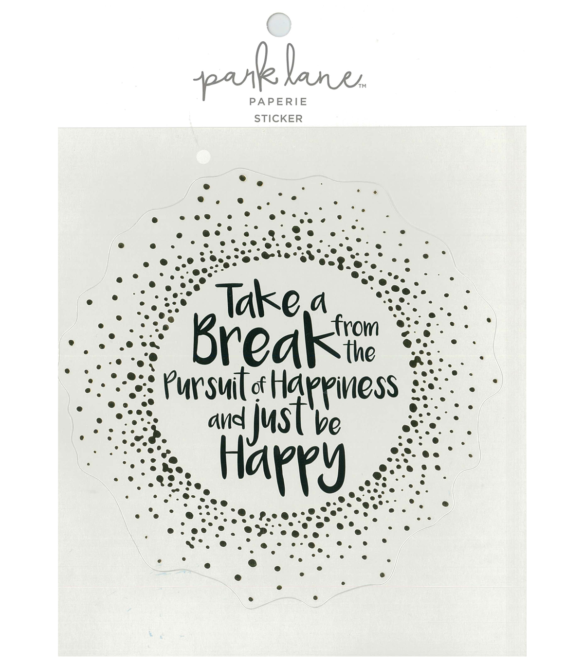 Park Lane Paperie Large Sticker-Be Happy