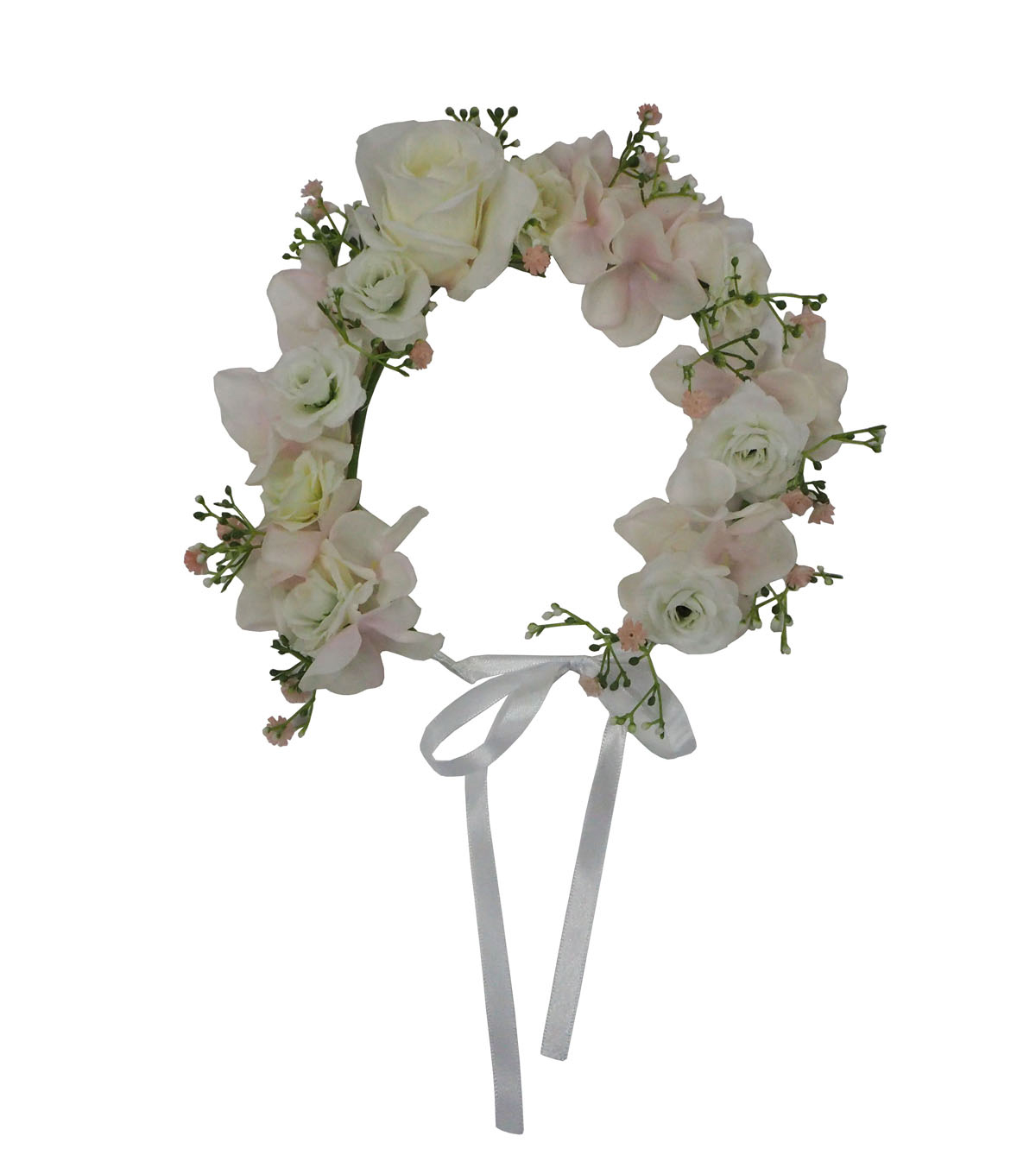 Fresh Picked Spring Floral Crown-Pink & White