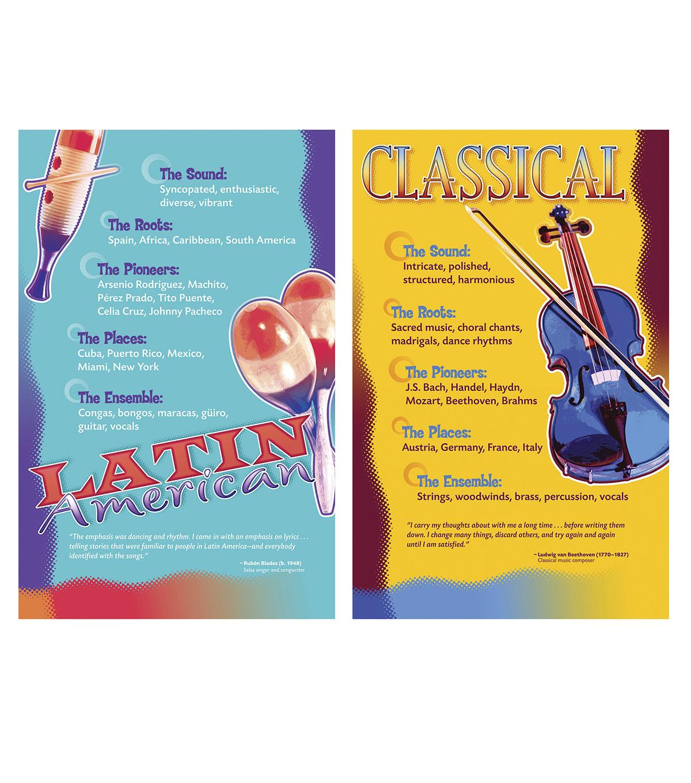 639d8851620c8 Music Genres Bulletin Board Set, 2 Sets