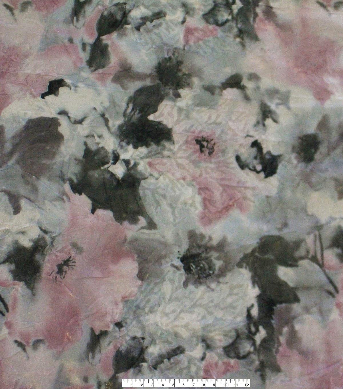 Modern Vintage Jacquard Fabric 51u0027u0027 Pink Gray u0026