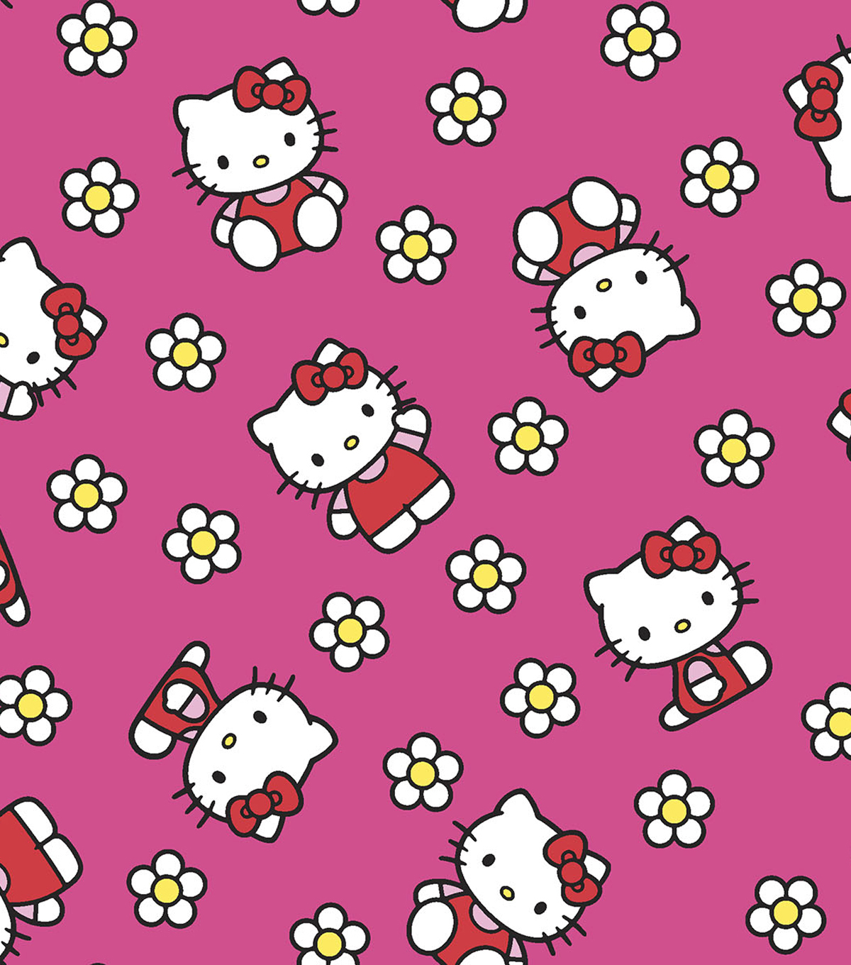 Hello Kitty Flannel Fabric 43\u0022-Flower