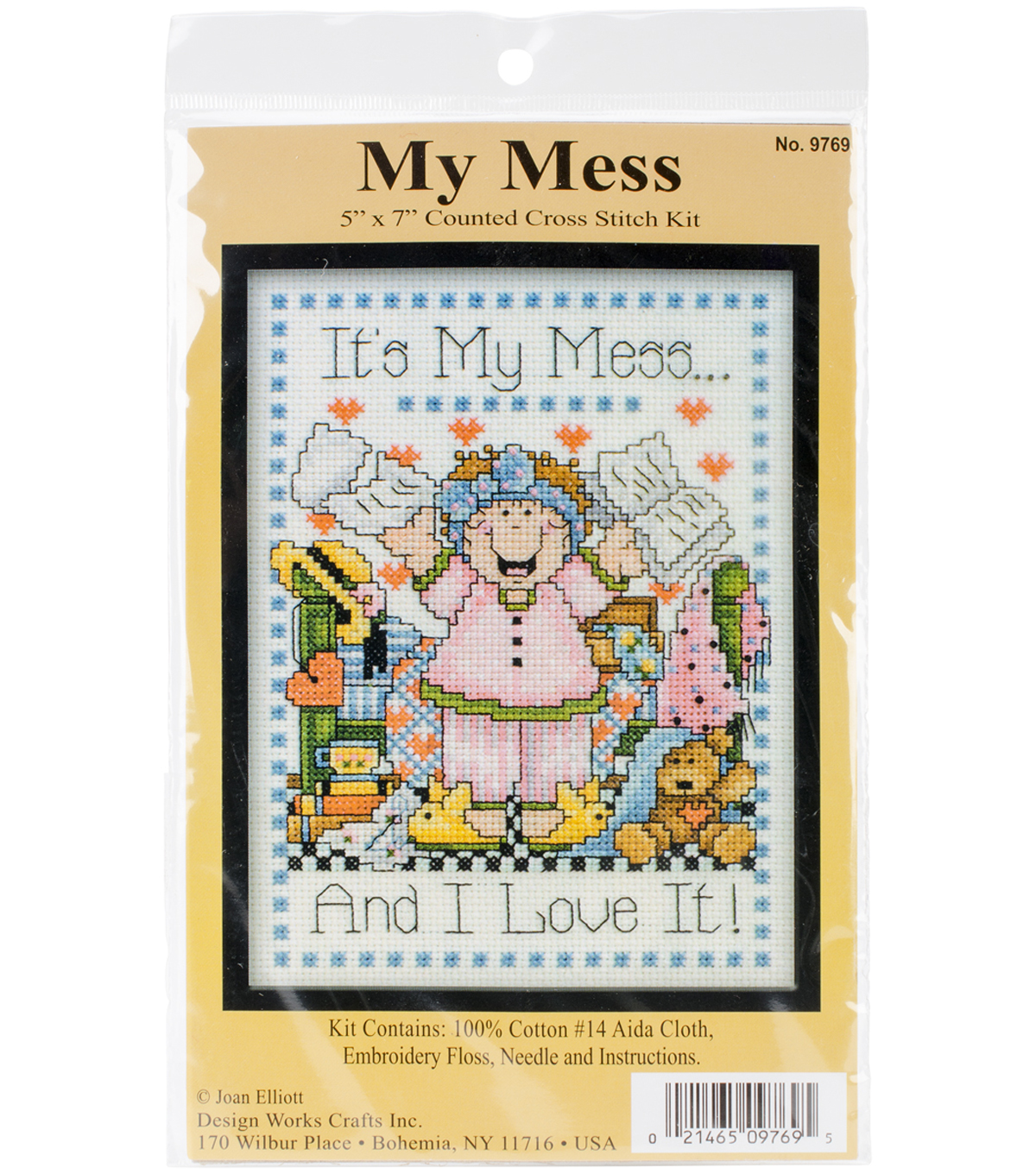 Design Works Crafts 5\u0027\u0027x7\u0027\u0027 Counted Cross Stitch Kit-My Mess