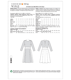 Vogue Pattern V1512 Misses\u0027 Popover Midi Dress-Size 6-8-10-12-14