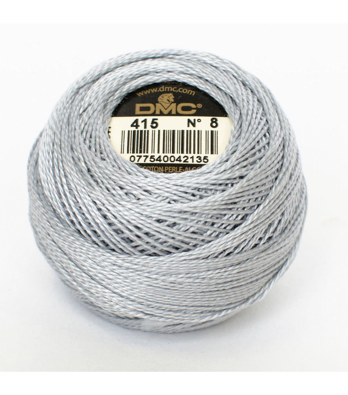 DMC Pearl Cotton Balls Thread 87 Yds Size 8, Pearl Gray