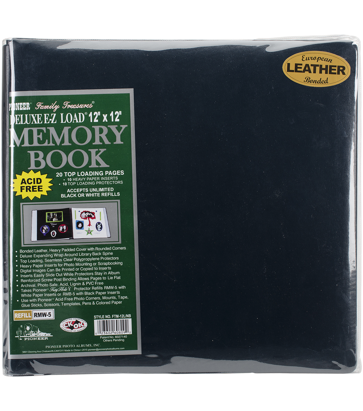 Pioneer 12 x 12 white memory book scrapbook refill pages /& vinyl protectors
