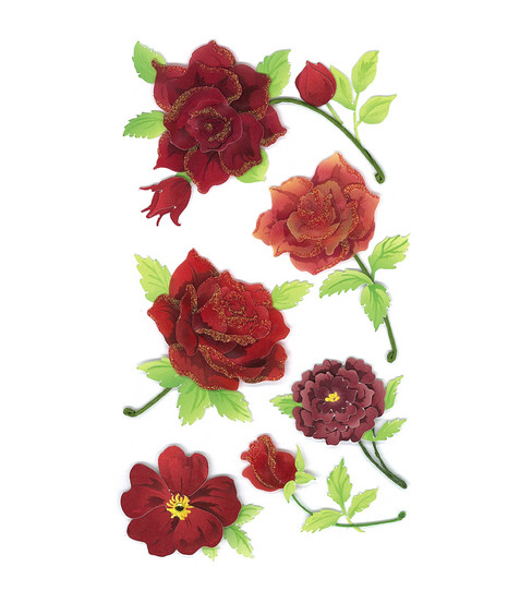 Jolee\u0027s Boutique Le Grande Dimensional Sticker-Colorful Roses