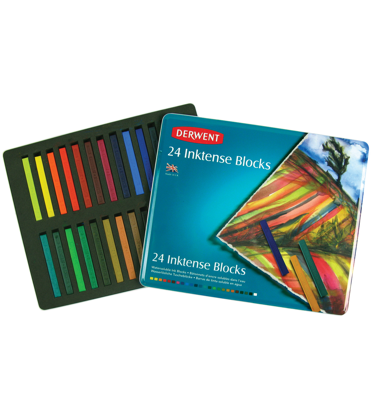 Derwent Inktense Blocks Tin 24/Pkg