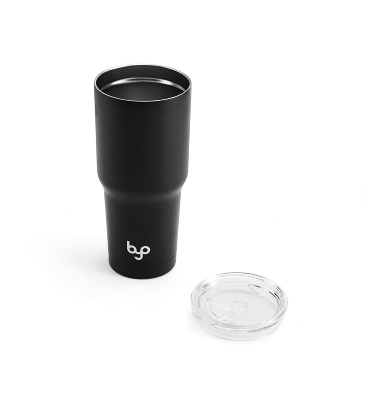 BYO 30 oz. Double-wall Stainless Steel Tumbler with Tritan Lid-Black