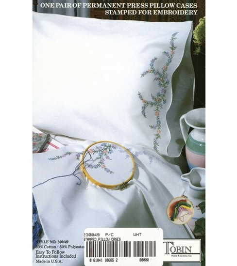 Tobin Stamped Pillow Case Pair Reflections