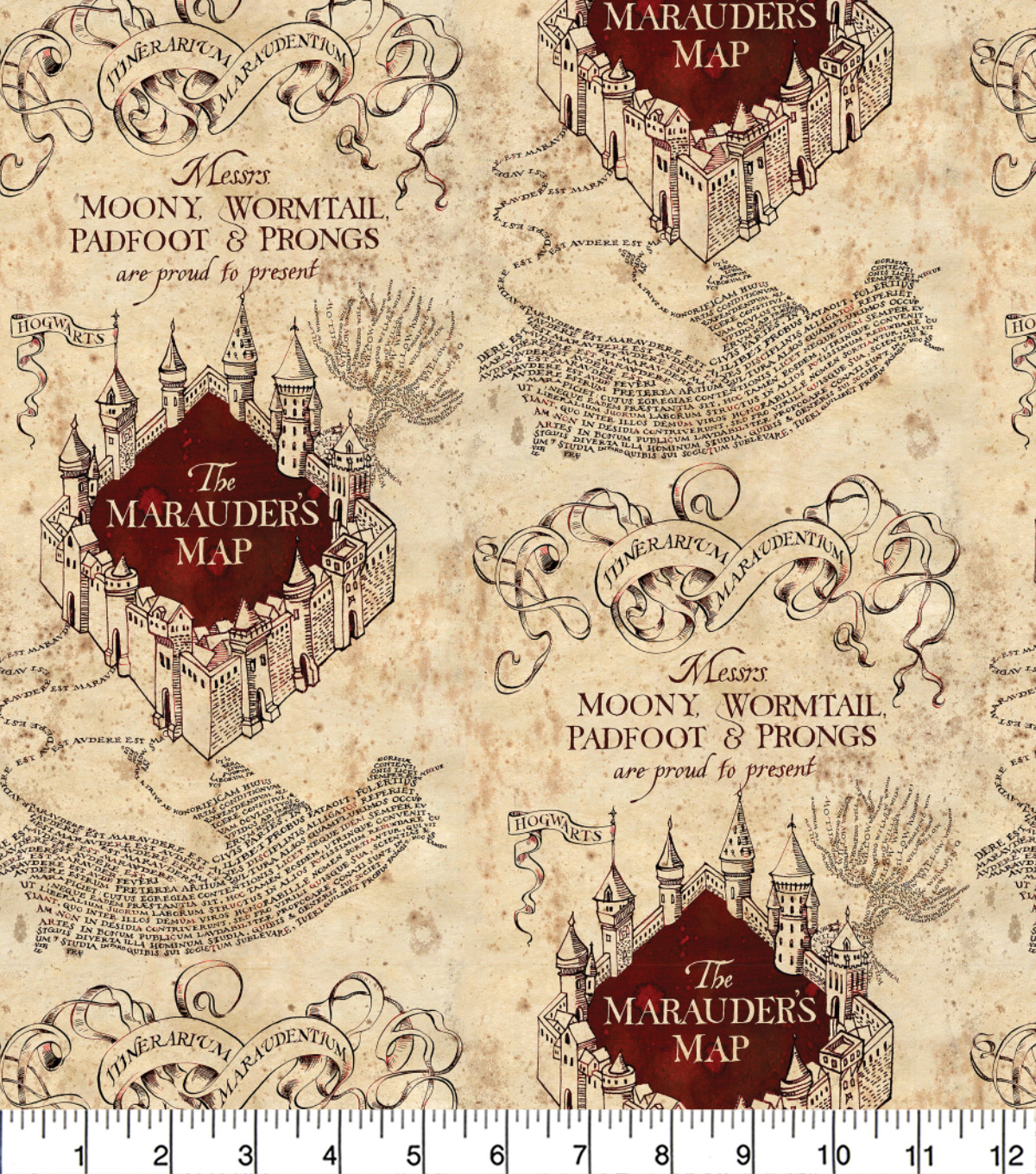 photo relating to Harry Potter Marauders Map Printable titled Harry Potter Knit Material 58-Marauders Map