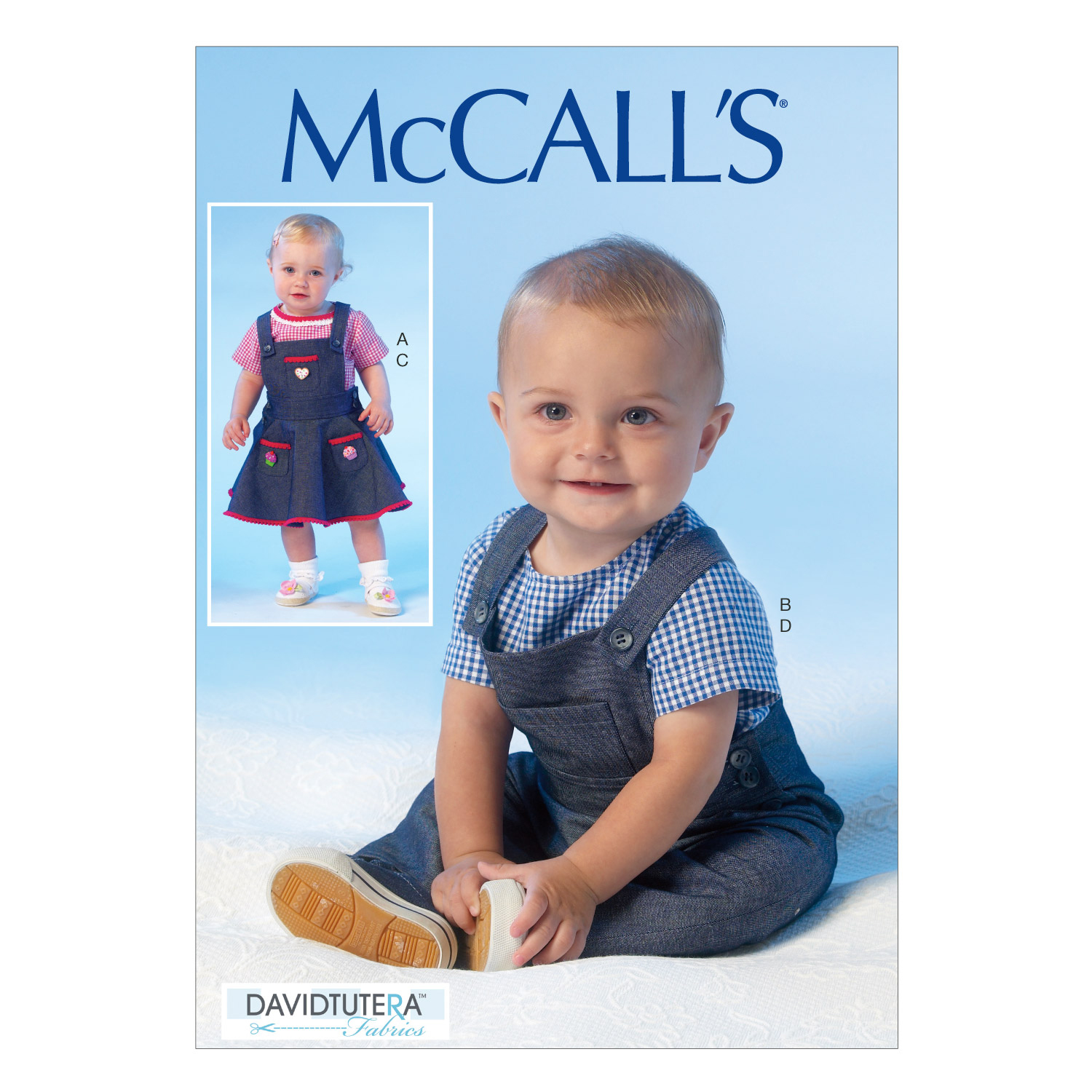 McCall\u0027s Pattern M7038 Infants\u0027 Tops, Jumpers & Overalls-Size NB-XL